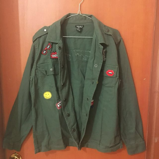 Forever 21 outer green with patch