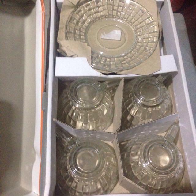 gelas tangkai cup & saucer