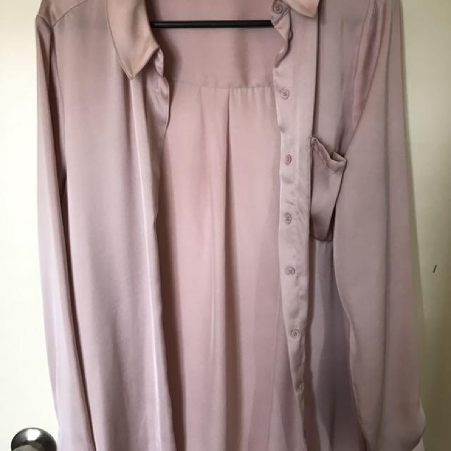 Glassons Pink Satin Shirt