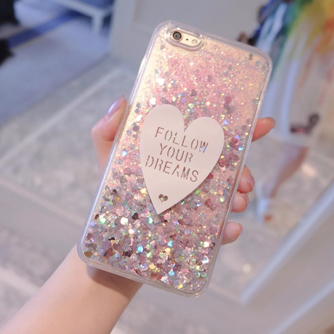 new concept d0ad7 e11d1 Glitter Waterfall iPhone 7/7 Plus Phone Case