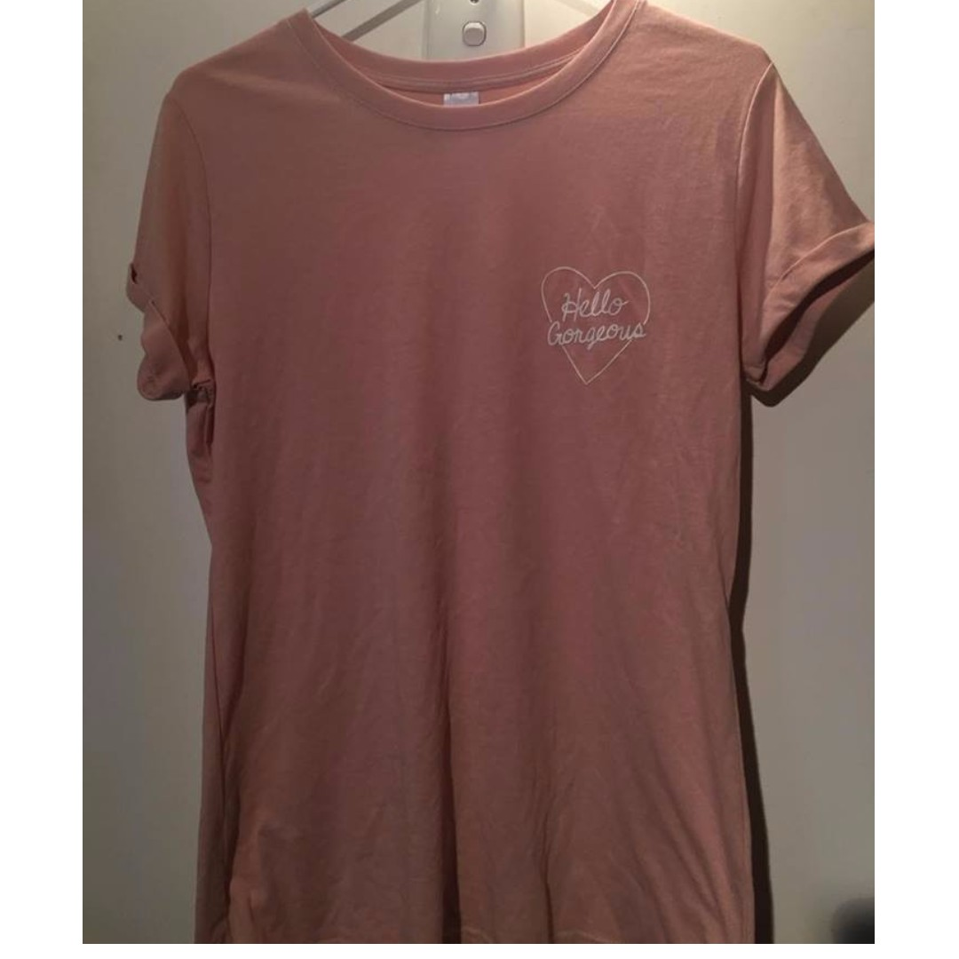 'Hello Gorgeous' Pink T-shirt