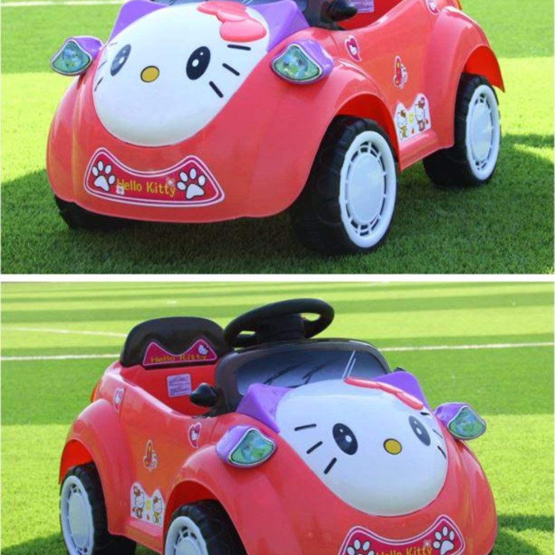 hello kitty rechargeable car for kids with remote control toys games others on carousell