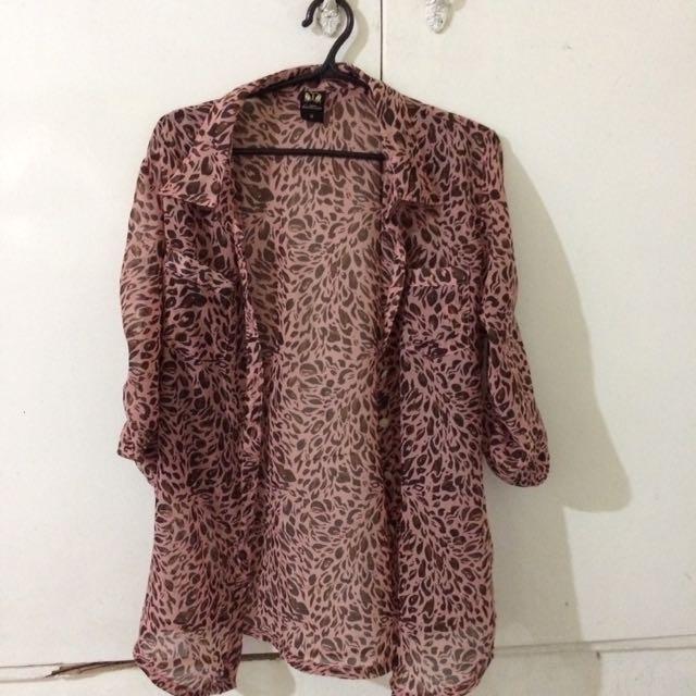 Hotkiss 3/4 blouse medium polo