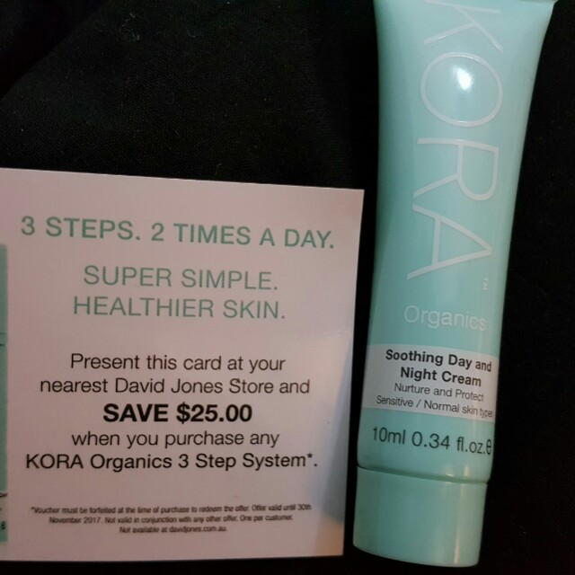 KORA Organics Day and Night cream and gift card