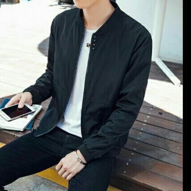 Korean Style Men Bomber Jacket Men S Fashion Clothes On Carousell