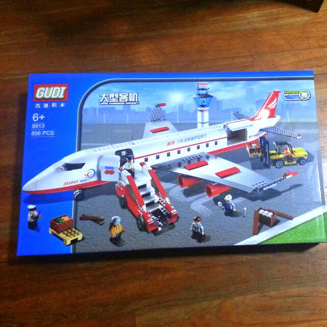 Large Passenger Aircraft Jet plane compatible with Lego by Gudi 8913 ...