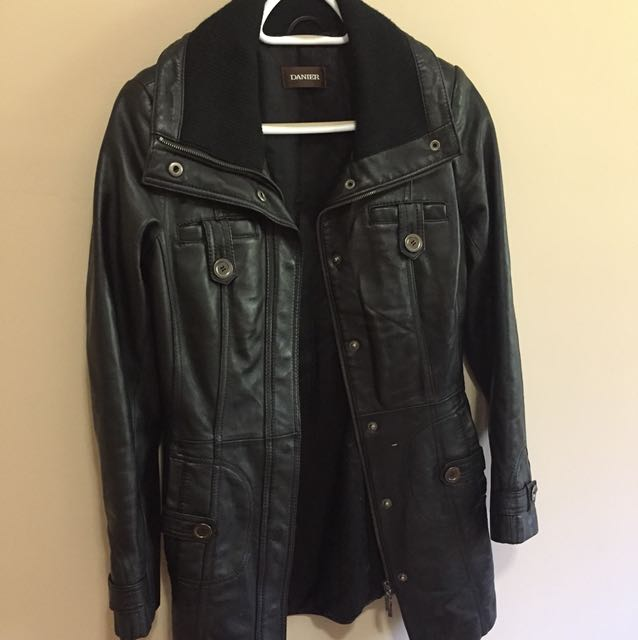Leather winter jacket DANIER