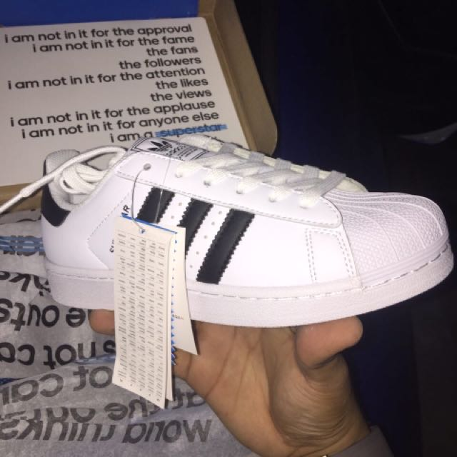 Lelong ready stock new adidas superstar size 37