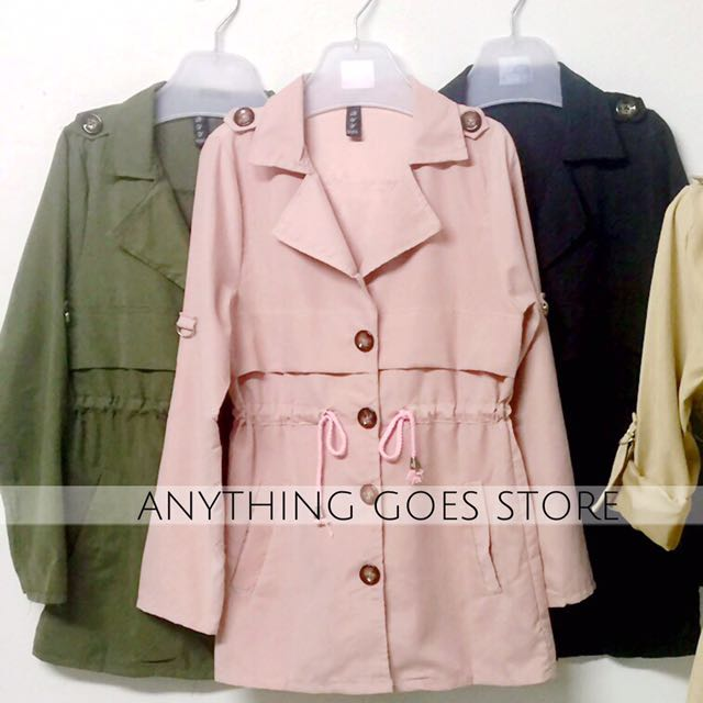 Lightweight Military Jacket with Storm Flaps