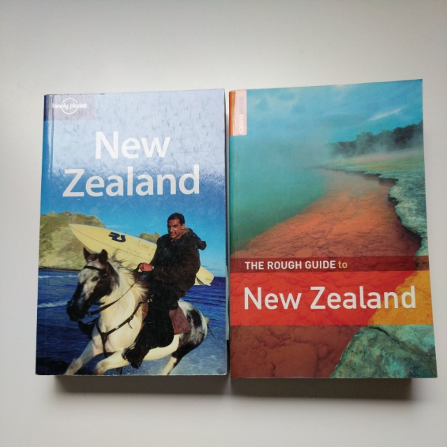 Lonely Planet and Rough Guide Travel Books to New Zealand