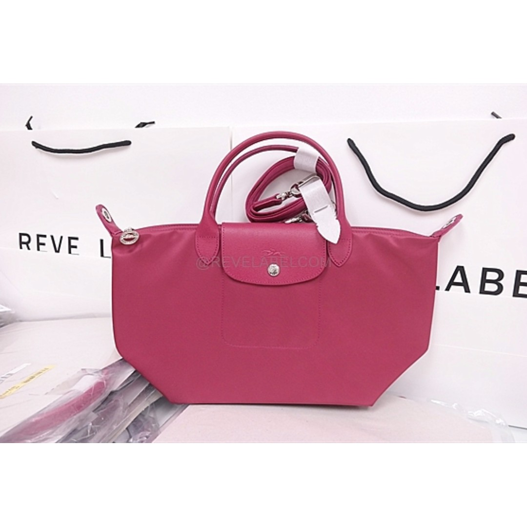 Longchamp Le Pliage Neo Small Raspberry 1512 578 232, Luxury, Bags & Wallets on Carousell