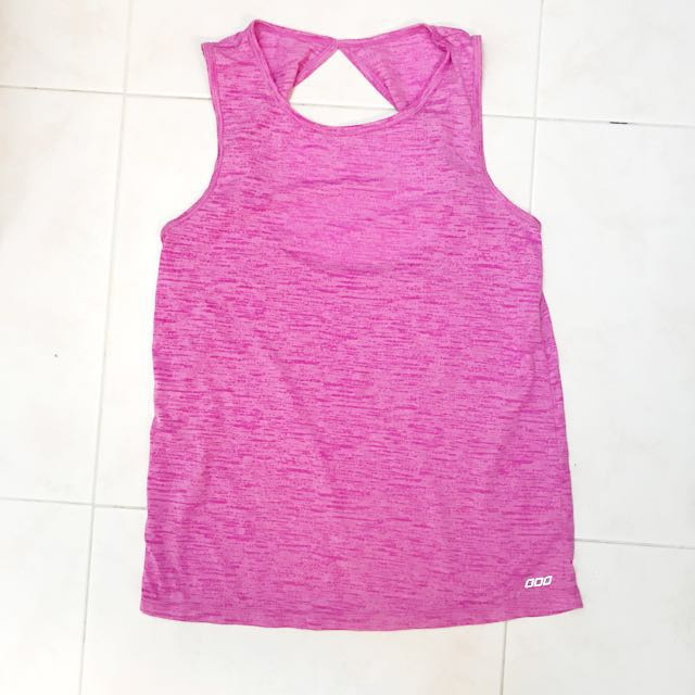 Lorna Jane fitness top with back details Size S