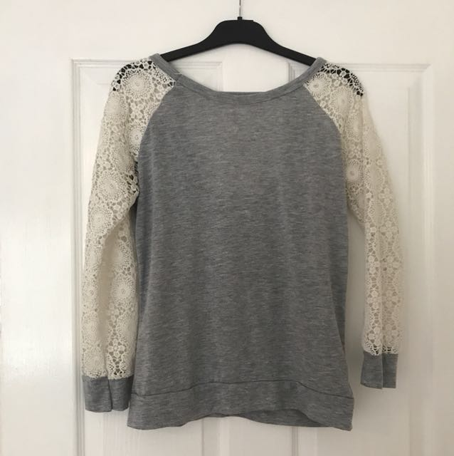 Low back lace sleeve top