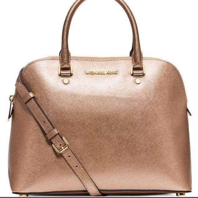 3b1ab826669e3 Michael Kors Cindy Saffiano Sling Bag (Rose Gold)