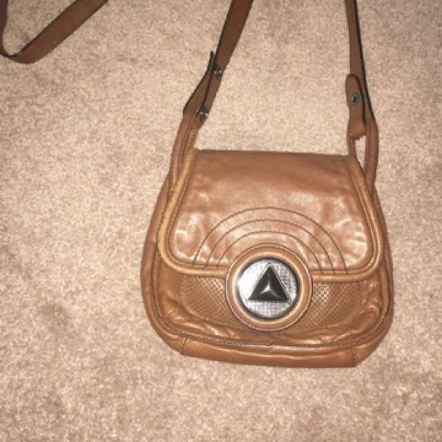 Mimco brown side bag