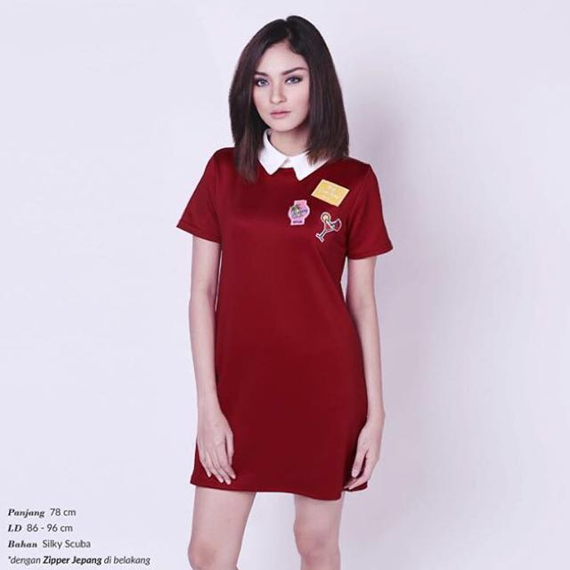 NEW! Collar Patch Dress