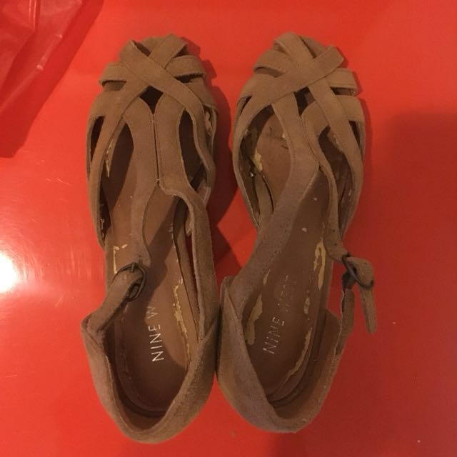 Nine West - Authentic - suede ankle strap size 36