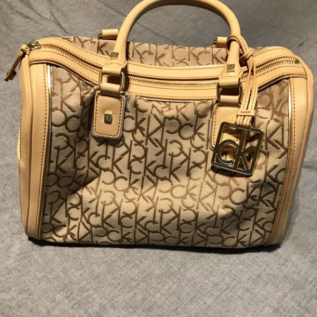 Nude and Gold Calvin Klein Bag