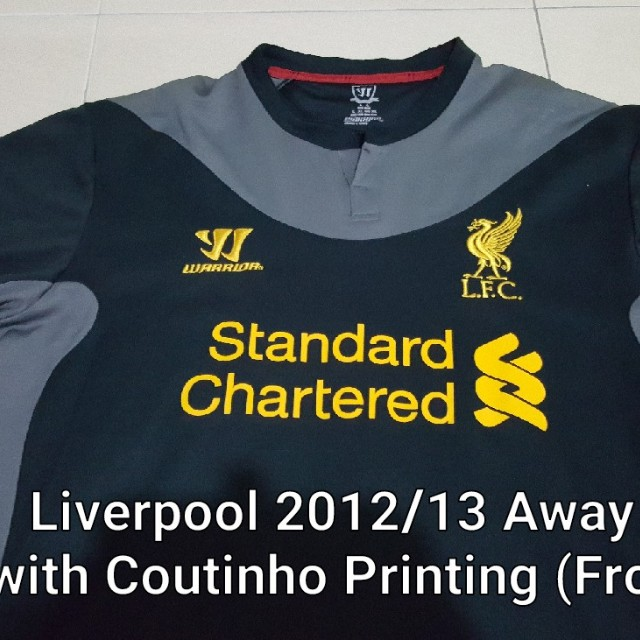 separation shoes 32ed2 34f8e Original Liverpool 2012-13 Away Kit L size with COUTINHO Printing