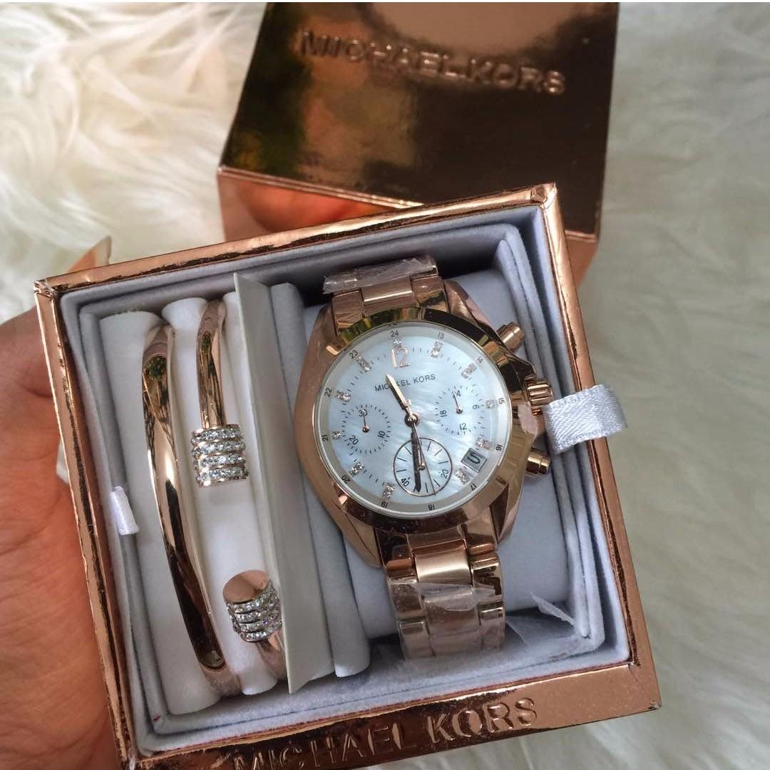 Original Michael Kors Watch Ready Stock Womens Fashion Watches Fossil Es3487 Photo
