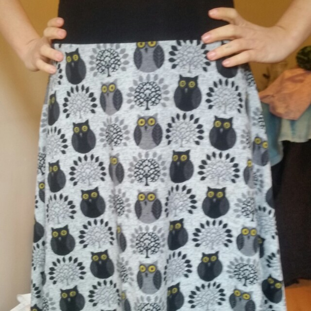 Owls winter skirt