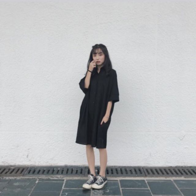 Per.黑色襯衫洋
