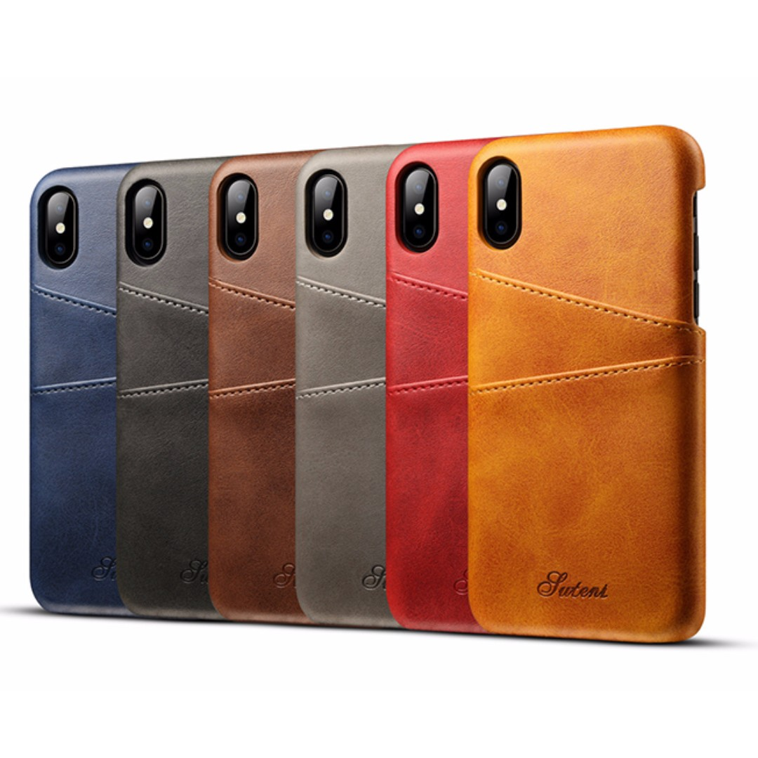 PO) iPhone X New Luxury Business PU Leather Wallet Card Case ...