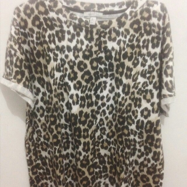 PRELOVED - ZARA LEOPARD BLOUSE