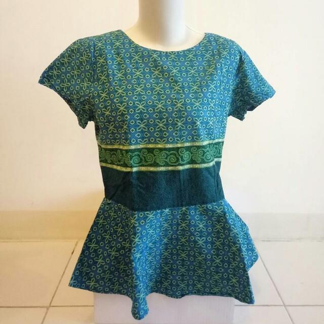 (Preloved) Batik Model Peplum