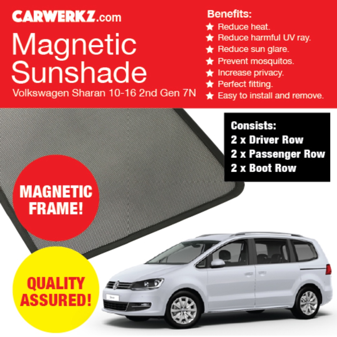 Quality Volkswagen Sharan 10-16 2nd Gen 7N Custom Fit Magnetic ...