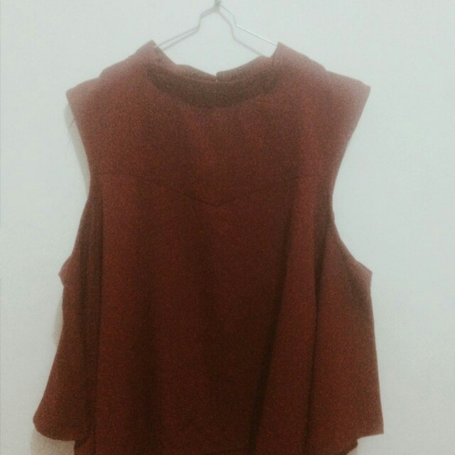 RED OMBREE BLOUSE