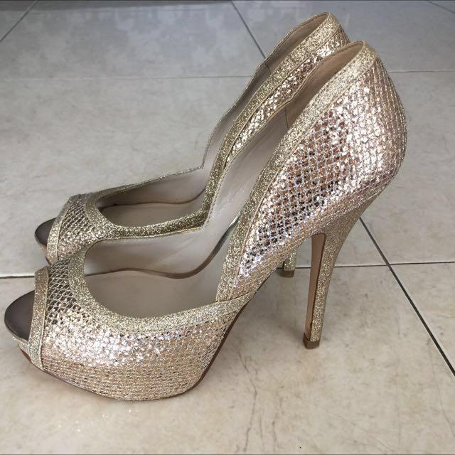 84594ec5ea1c Reduced!) Aldo Glitter Heels #Take10off, Fesyen Wanita, Kasut di ...