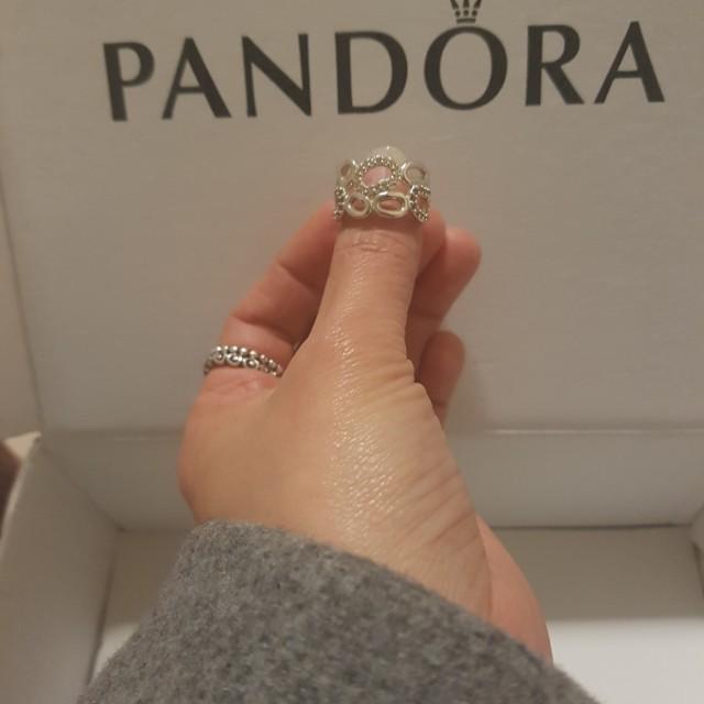 """Price Reduce"" Retired Pandora Ring Circle of Friends"