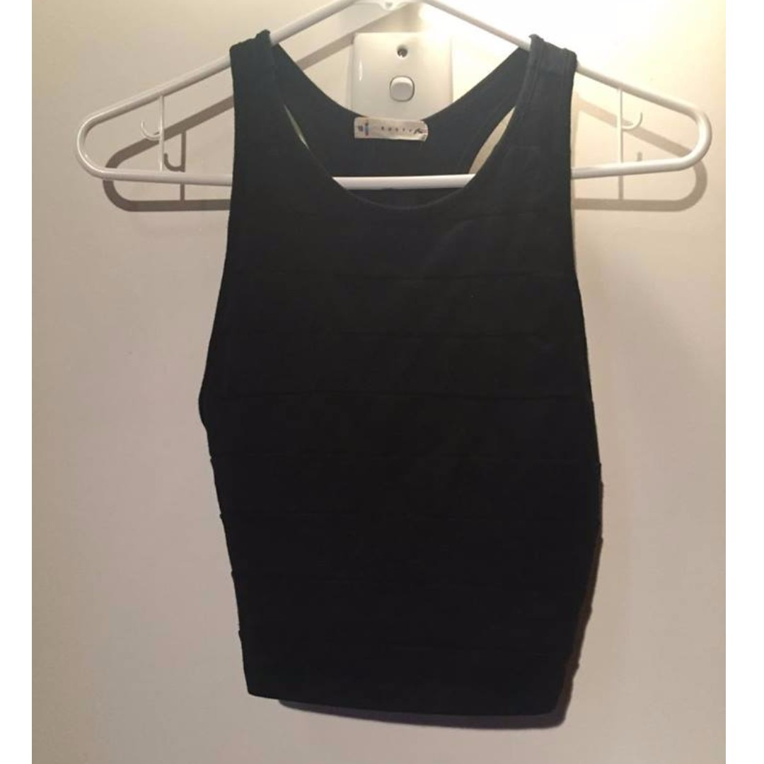 Rusty Brand Black Crop Top