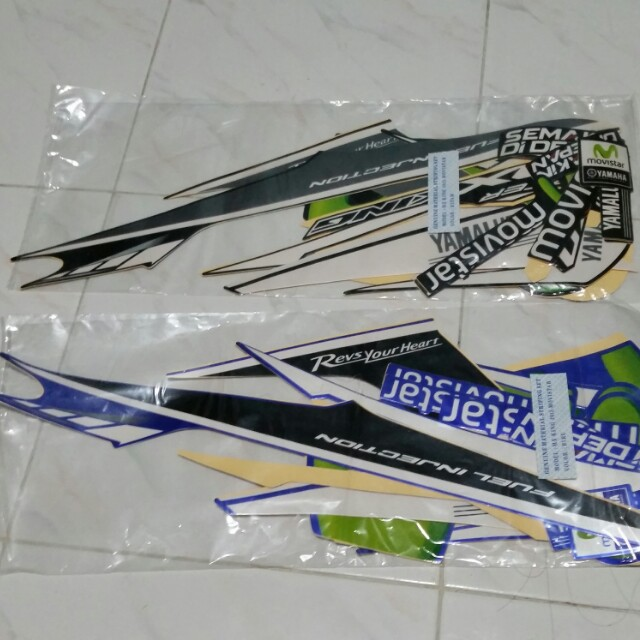 Sniper 150 Movistar Decal Sticker set, Motorbikes, Motorbike
