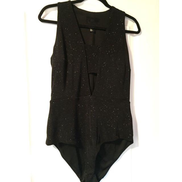 sparkly h&m bodysuit