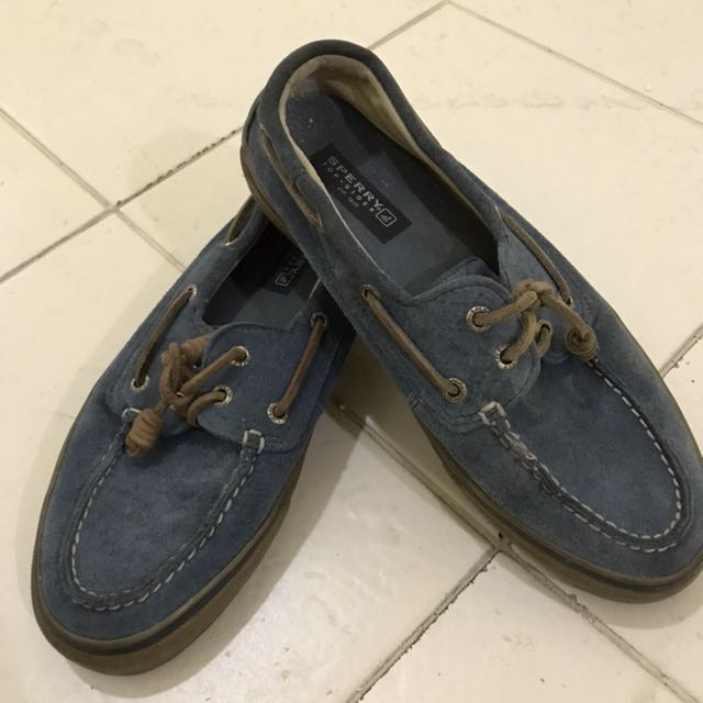 Sperry Blue Suede Top Siders