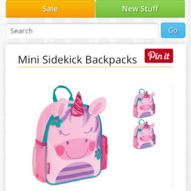 Stephen Joseph Mini Sidekick Backpack, Babies