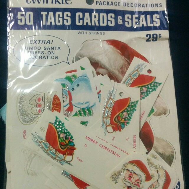 Vintage-Twinkle xmas tags and seals