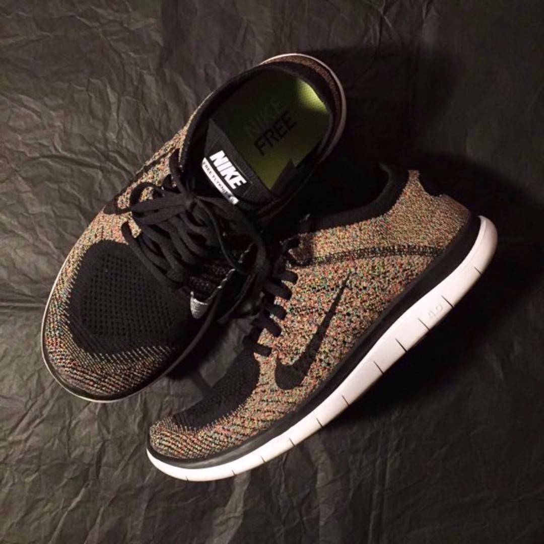more photos 3372b dd3cd US9 - Nike Flyknit Free 4.0 Multicolor, Men's Fashion ...