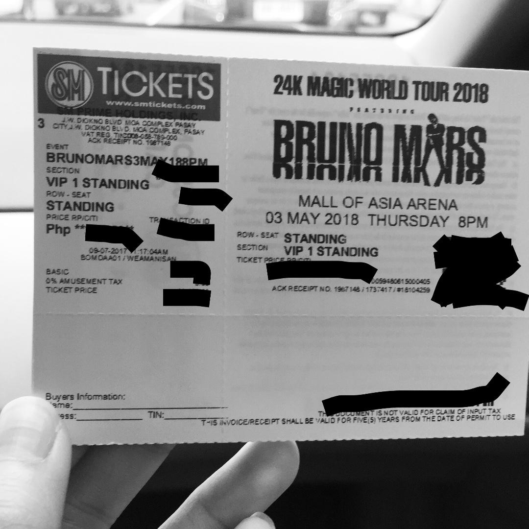 VIP 1 Bruno Mars Day 1 Concert