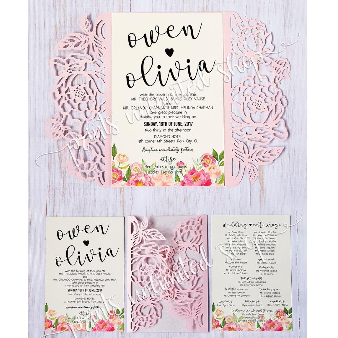Wedding Debut Birthday Gatefold Invitations Design Craft