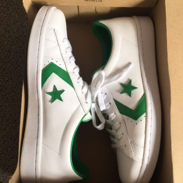 White/Green Converse Leather Size men's 11