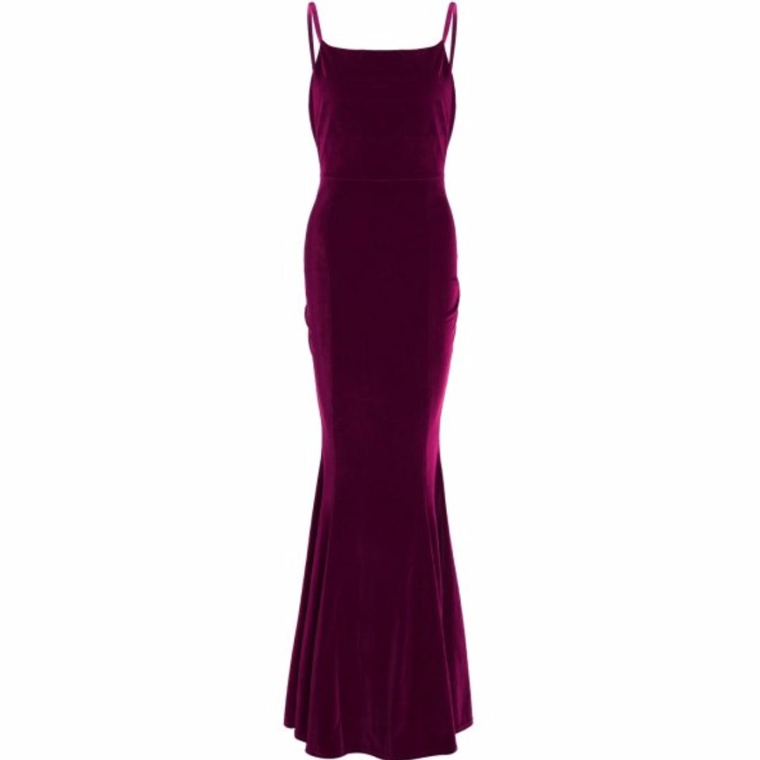 Wine Velvet Maxi dress