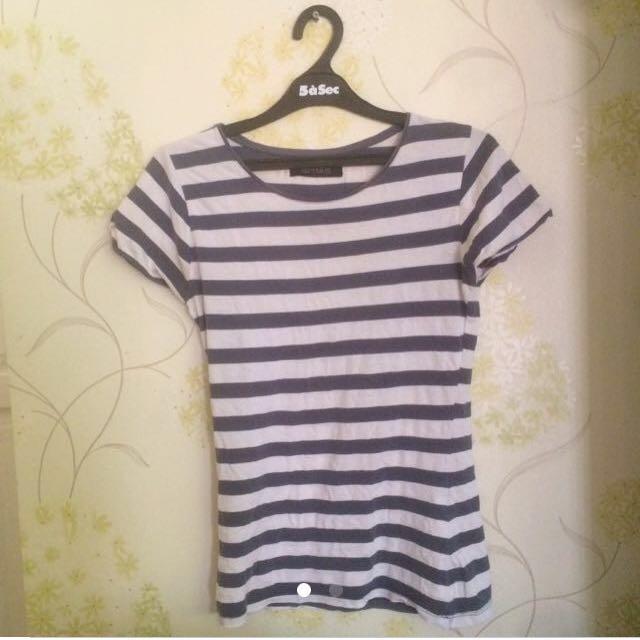Zara stripes basic t shirt