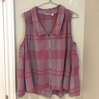 Anthropologie plaid sleeveless top