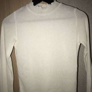 Long Sleeve Shirt White H&M in S