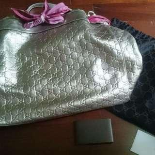 Gucci Hobo Bag Silver Mirror