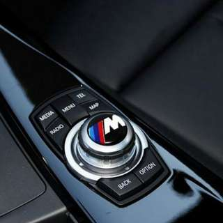 I Drive M Sport badge 29mm Multimedia audio control buttons for bmw bimmer