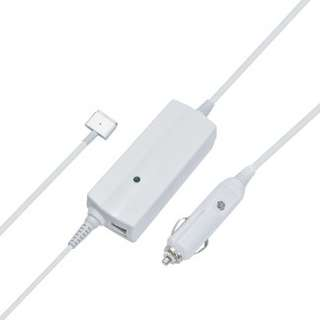 85W Dual Port Car Charger with Magsafe 2 Cable for Macbook Pro Retina 15""